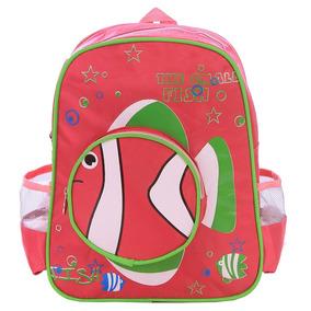 Mochila Escolar Infantil Peixinho - Pink