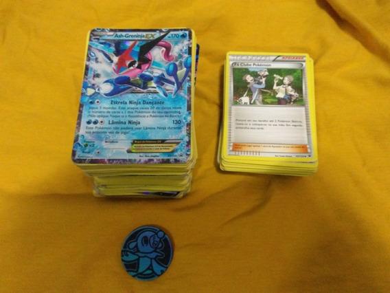 Cartas Pokémon Com Ex,mega Ex,moeda,e Cartas Raras.