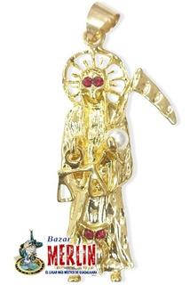Dije Santa Muerte - Chapa De Oro - Ritualizado Para Ti
