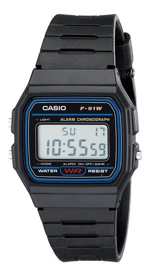 Relógio Casio Vintage F91w Com Caixa