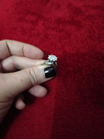 Anel De Ouro Branco Com Diamantes .anel Antigo E Raro.