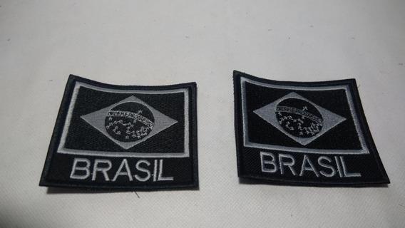 Patch Bandeira E Escrito Brasil 2