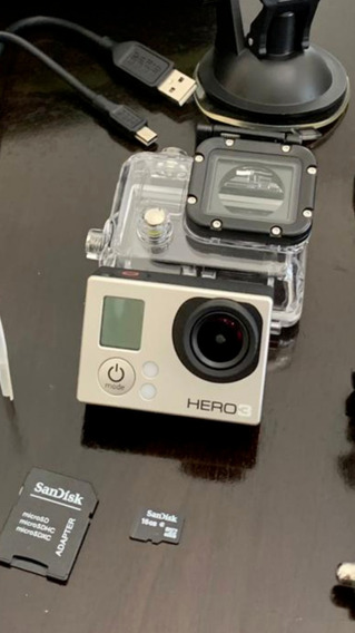 Go Pro Hero 3 + 2 Baterias + Cartao De Memoria