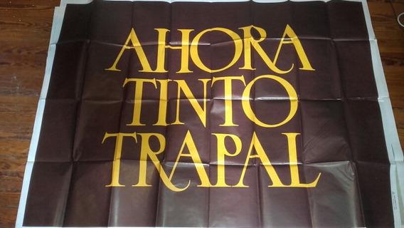 Afiche Vino Tinto Trapal Antiguo Coleccion Publicidad