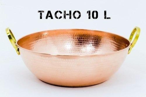 Tacho De Cobre Martelado 10 Litros