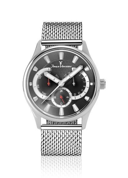 Relógio Pulso Jean Vernier Unissex Aço Multifunção Jv00062a