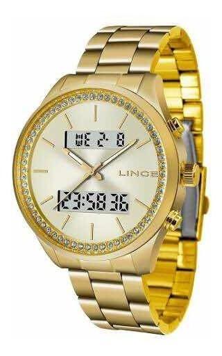 Relógio Feminino Dourado Lince Anadigi Lag4591l C1kx Dourado