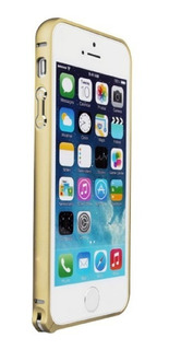 iPhone 5 5g 5s Love Mei Funda Bumper Buckle Aluminio Dorado