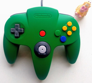 Control Verde Original Nintendo 64 N64 * Mundo Abierto Vg *