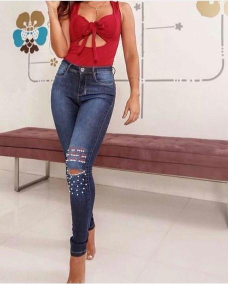 Calça Consciência Jeans Com Perolas