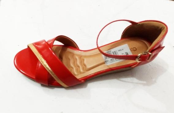 Comfortflex Nr 38 Cor Vermelha Sandália Fem. 139031