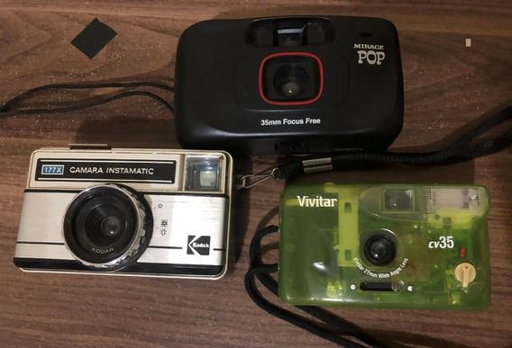 Máquinas Analógicas Kodak Instamatic 177x, Vivitar Cv35...