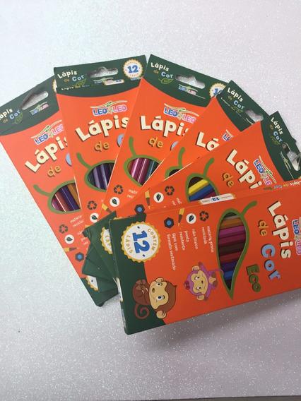 Kit Com 6 Caixas De Lápis De Cor Com 12 Cores / Léo & Léo