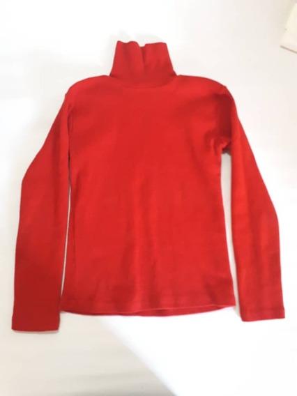 Sueter Cuello Tortuga Color Rojo