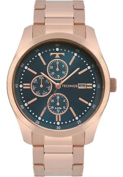 Relógio Masculino Technos Multifunção 6p89ia/4j Rose