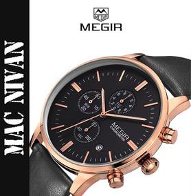 Relógio Masculino Importado Megir Analogico Sofisticado Novo