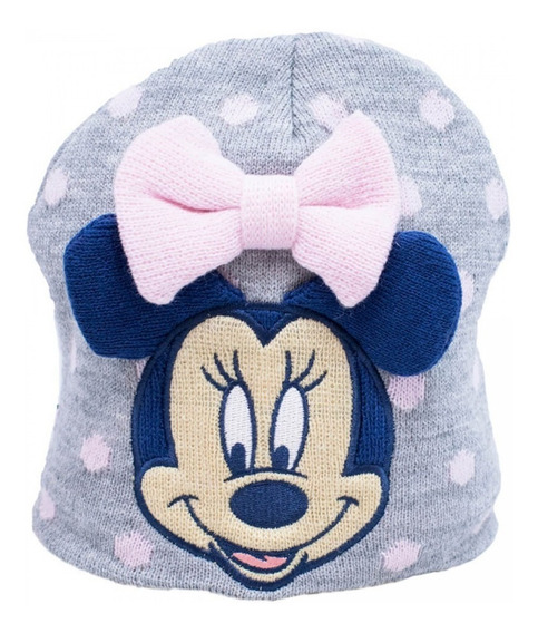 Gorro Touca Infantil Cinza Minnie Mouse Disney