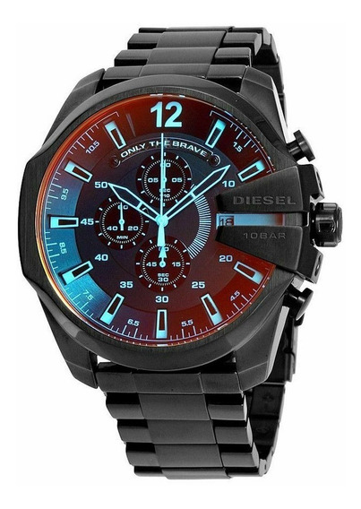 Relogio Diesel Mega Chief Chronograph Black Watch Dz4318