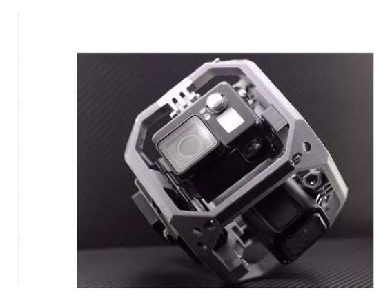 Cubo Quadro 360 Panorama Esférico 6 Câmera Gopro 3 4 5 Black