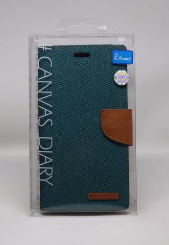Funda Redmi Note 3 Mercury Goospery Canvas Diary Verde