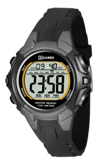 Relógio Xgames Xkppd055 Bxpx Unissex Preto - Refinado