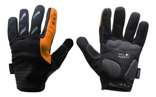 Luva Calypso Dedo Longo Gel Smart Touch Bike Mtb Laranja