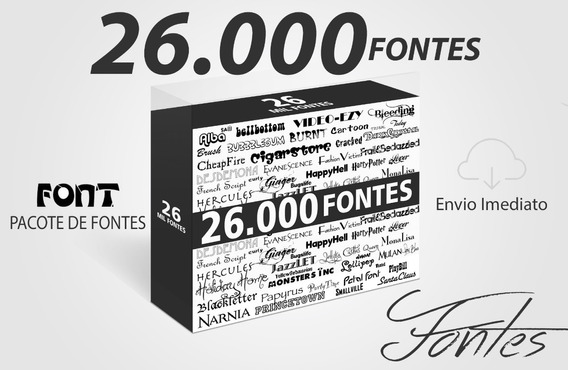 Pacote Completo 26.000 Fontes Gráficas Flayer Midia Social