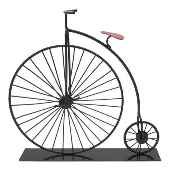 Enfeite Bicicleta Retro Em Metal Decoração