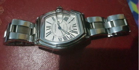Relógio Cartier Roadster Large Todo Em Aço Automático.