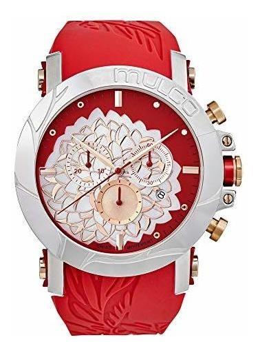 Mulco La Fleur Hortensia Reloj Cronografo Suizo Movimiento D