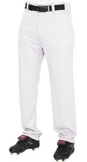 Rawlings Pantalones Juveniles Baseball Beisbol Mediano Blanc