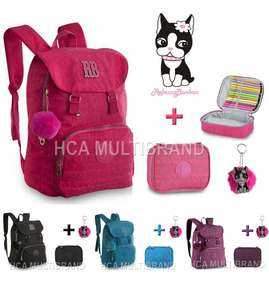 Kit Mochila Juvenil E Estojo Rb9131 Rebecca Bonbon Notebook