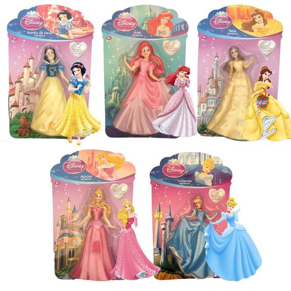 4 Bonecas Princesas Disney Coleção Miniaturas