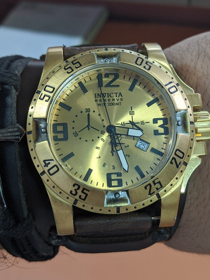 Reloj Invicta Reserve 200mts Swiss Correa No Original