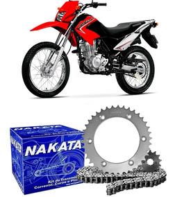 Kit Relação Transmissão Nxr 125 Bros 2003 2004 2005 Nakata