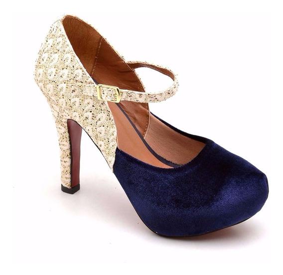 Sandalia Sapato Bota Feminina Salto Alto C/ Ziper Luxo
