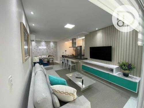 Imagem 1 de 14 de Apartamento Com 3 Dormitórios À Venda Por R$ 2.450.000,00 - Riviera De São Lourenço - Bertioga/sp - Ap1984