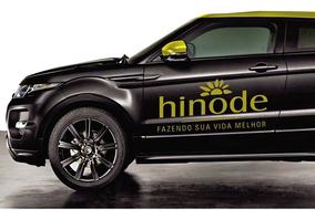 Adesivo Hinode Dourado Para Carro Kit Com 3 + Telefone Nos 3