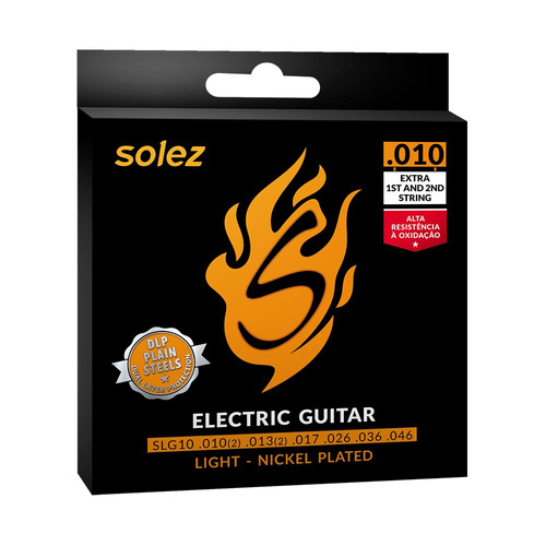 Encordoamento Solez Para Guitarra Slg10 0.010/0.046