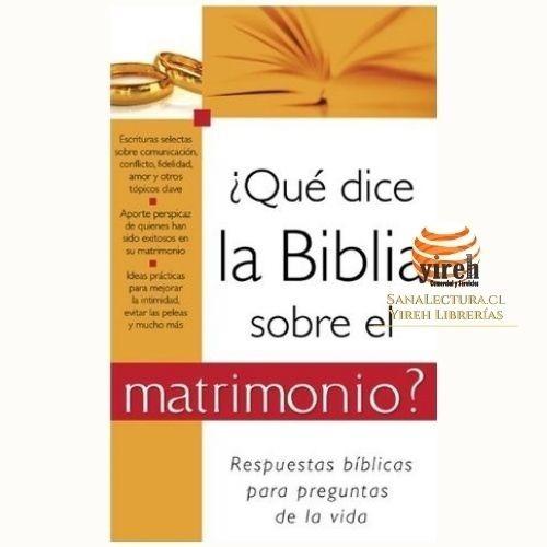 Imagen 1 de 1 de ¿qué Dice La Biblia Sobre El Matrimonio?