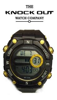 Reloj Knock Out Hombre Digital 8149 023 Sumergible Alarma