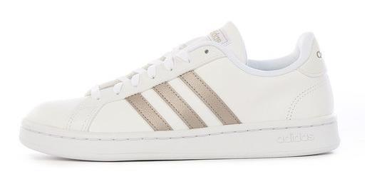 Tenis adidas Grand Court F36485 Blanco Mujer #22.5 Al #25