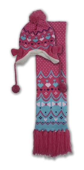Conjunto Set Invierno Bufanda Y Gorro Para Bebes Y Niñas