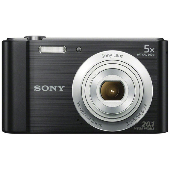 Câmera Digital Sony W800 Cyber Shot 20.1 Mp Black 16gb