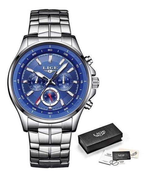 Relógio Importado Lige A Prova Dágua Promoção Original