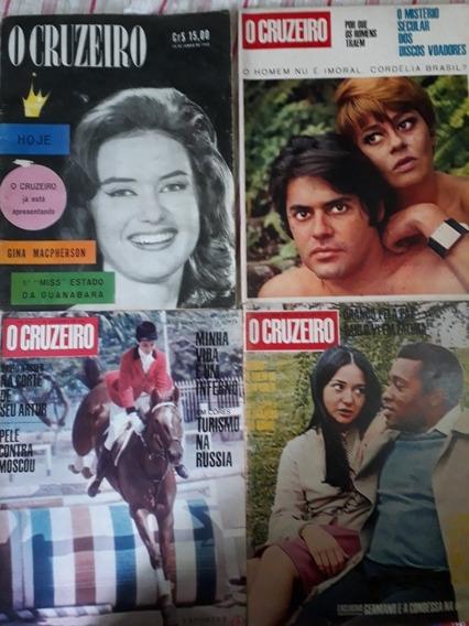 O Cruzeiro Anos 60 Lote 4 Revistas