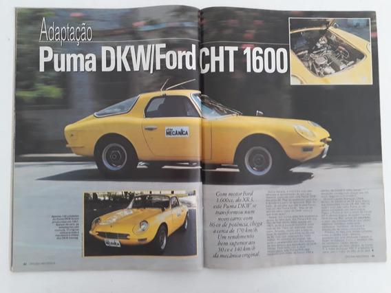 Revista Oficina Mecânica Nº 44 Puma Dkw Ford Cht 1600 Gol