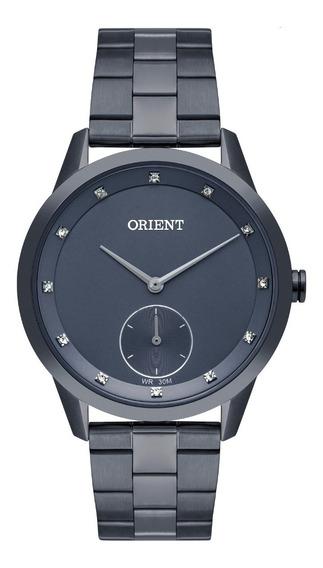 Relógio Orient Feminino Fass0006 D1dx Azul Analogico