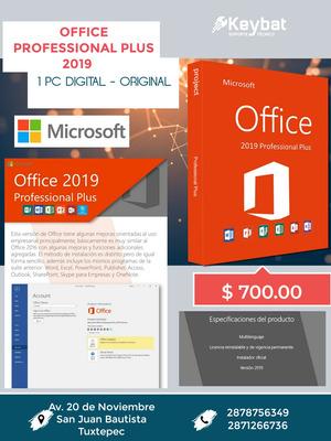 Servicio De Instalación De Office Profesional Plus 2019