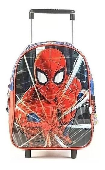 Mochila Spiderman Sense Con Carro Jardin 12 Pulgadas 62301